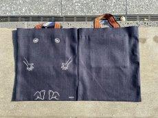 画像4: 【鬼太郎本舗】ぬりかべ『デニムトートバッグ』 (4)