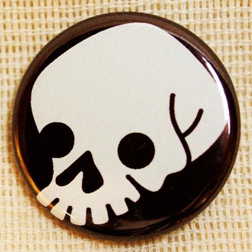 画像1: もののけ缶バッジ【ドクロ】 (1)