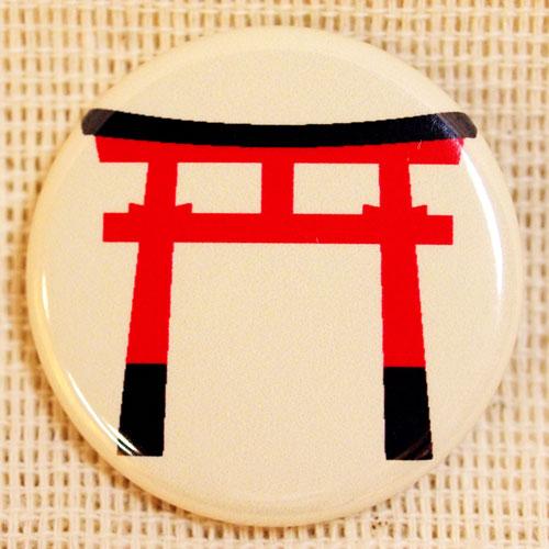 画像1: もののけ缶バッジ【鳥居】 (1)