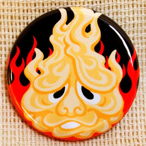 画像1: もののけ缶バッジ【つるべ火】 (1)